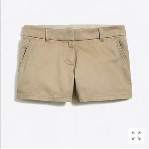 J crew tan chino shorts